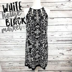 White House Black Market Floral Halter Dress
